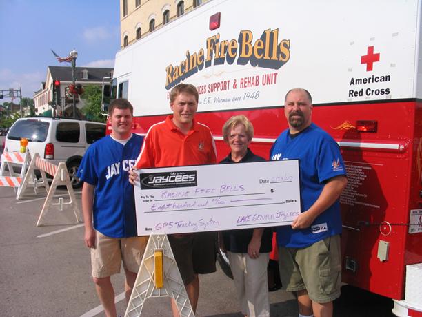 Racine Fire Bells Donation
