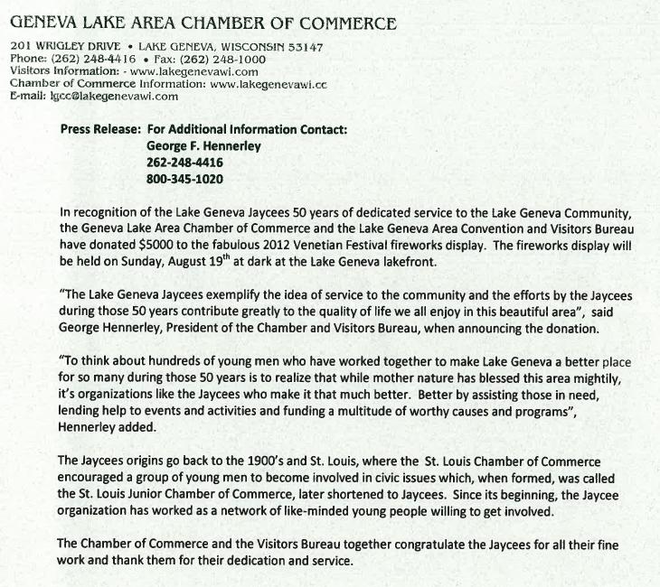 Chamber Letter